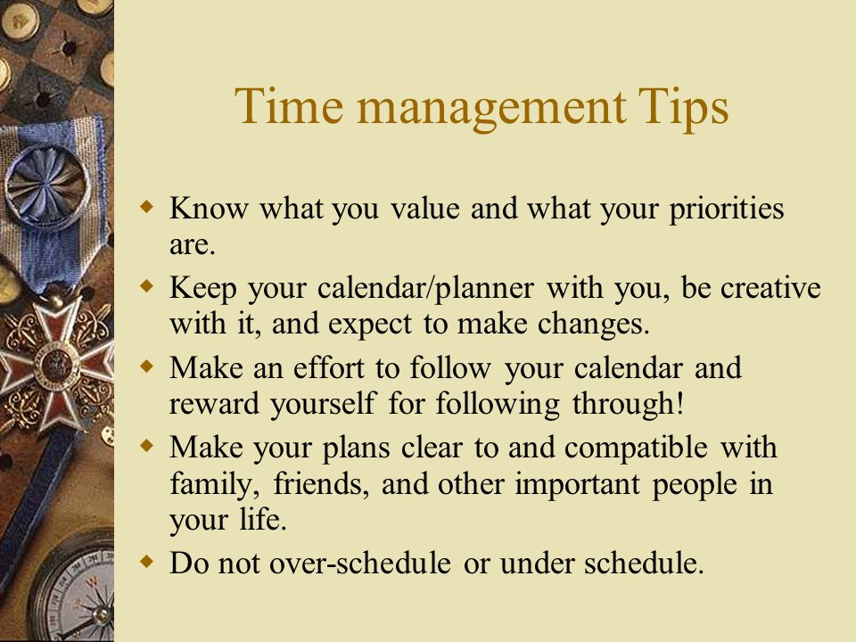 Things To Avoid When Managing Your Time  Avoid interruptions  Avoid Procrastination