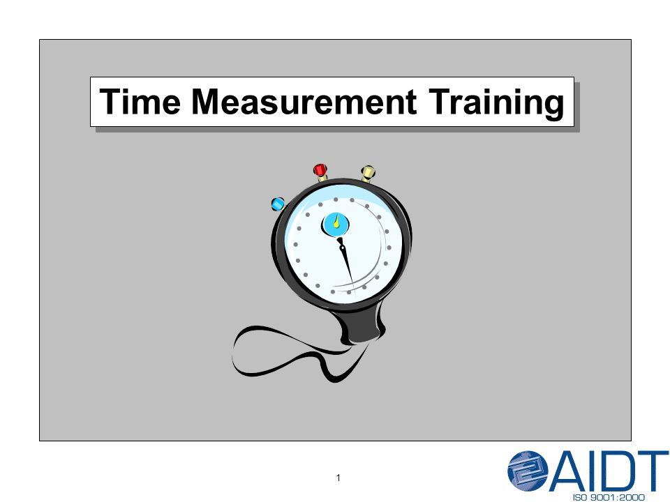 Time Measurement Training 1