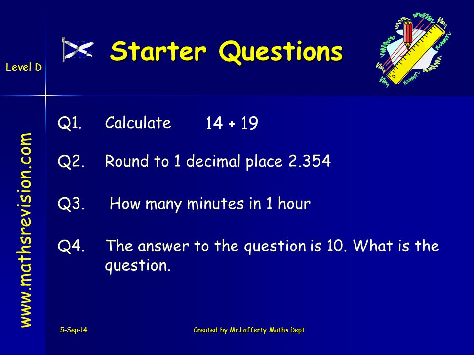 Let's make up our own question .The key steps are left on the slide to help you.