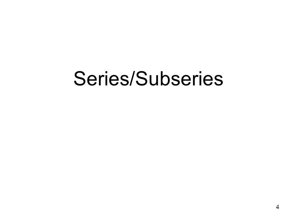 4 Series/Subseries