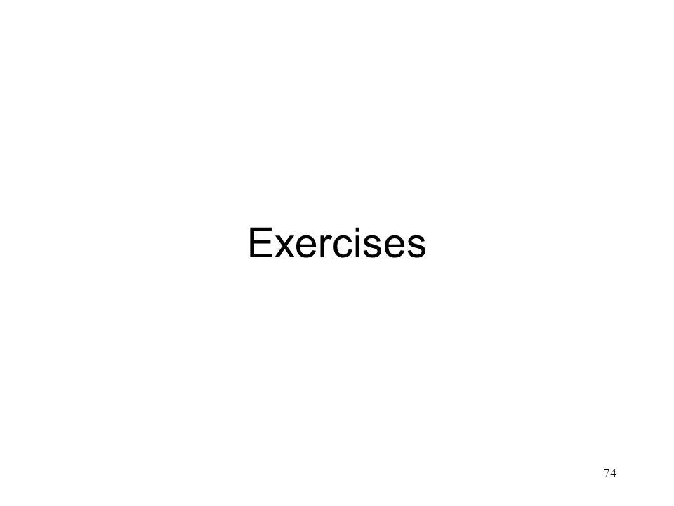74 Exercises