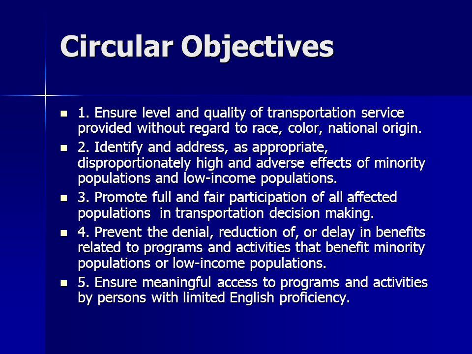 Circular Objectives 1.