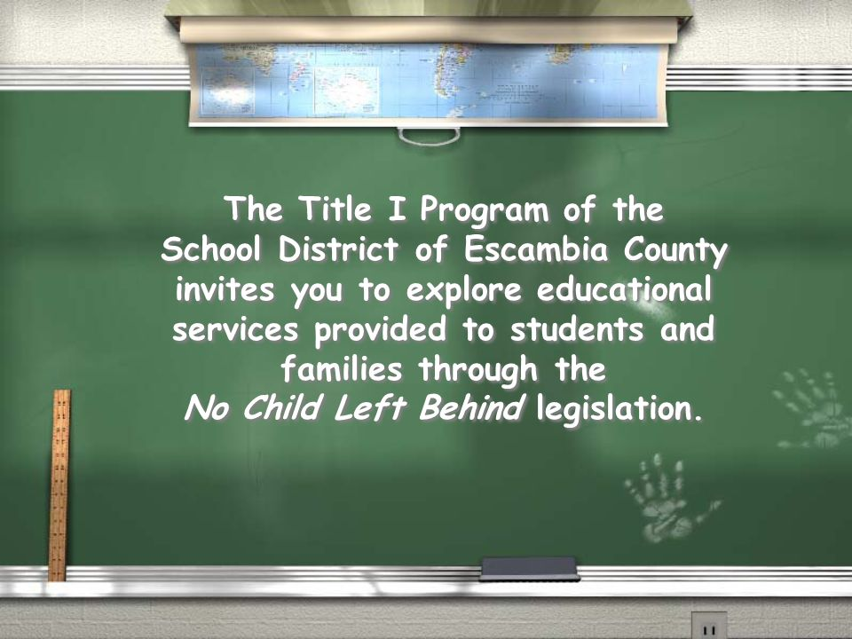 The Title I Program of the School District of Escambia County invites you to explore educational services provided to students and families through th