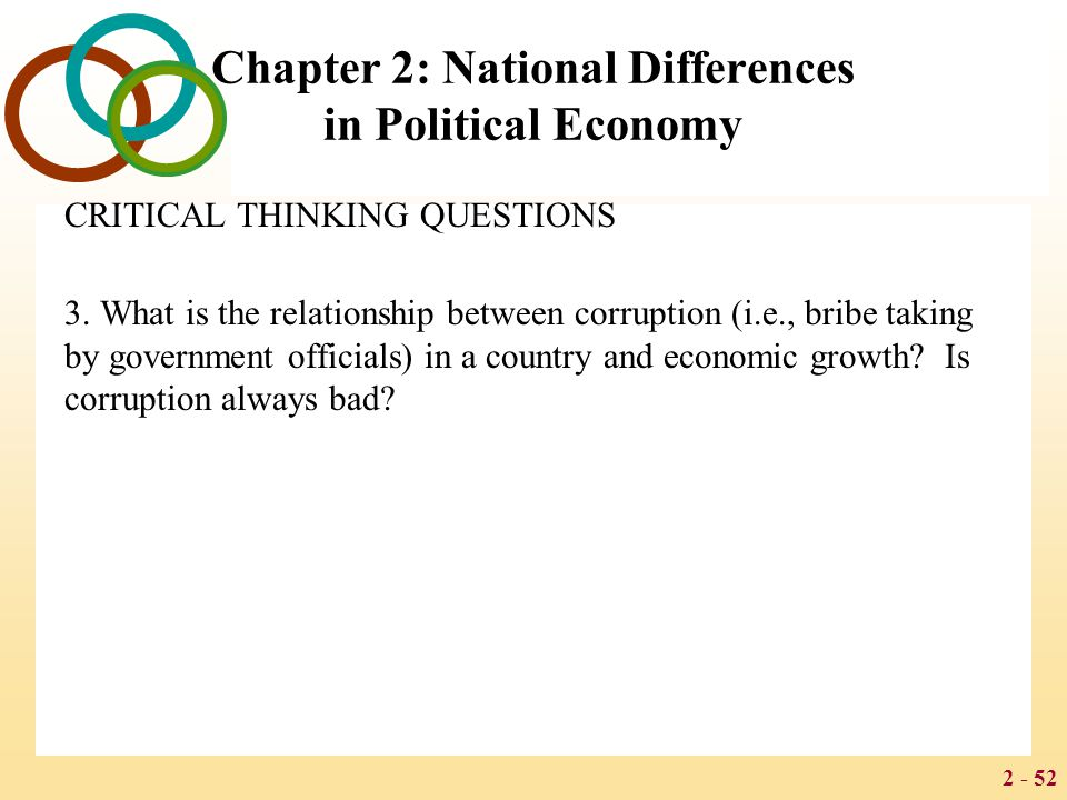 2 - 52 Chapter 2: National Differences in Political Economy CRITICAL THINKING QUESTIONS 3.