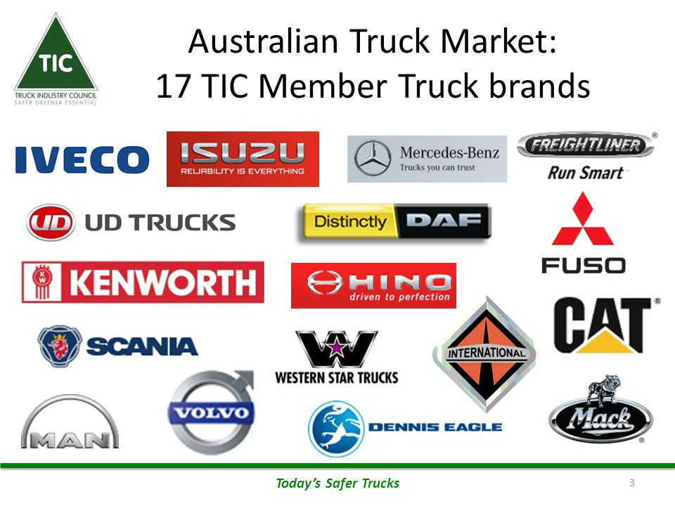 Engine & Major Component Brands Represented 4 Today's Safer Trucks