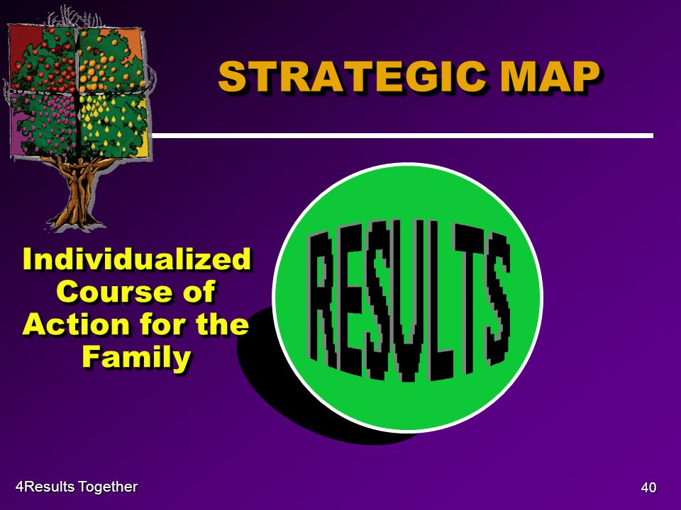 4Results Together 40 STRATEGIC MAP Individualized Course of Action for the Family