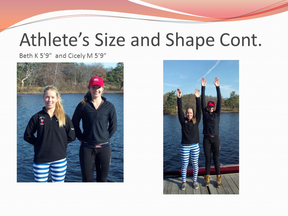 Athlete's Size and Shape Cont. Beth K 5'9 and Cicely M 5'9