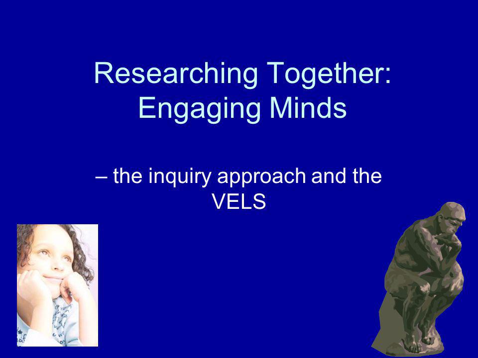 Researching Together: Engaging Minds Anyone not already own the program.
