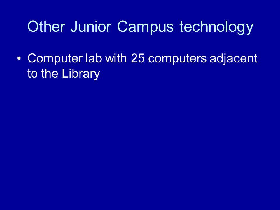 Other Junior Campus technology Computer lab with 25 computers adjacent to the Library