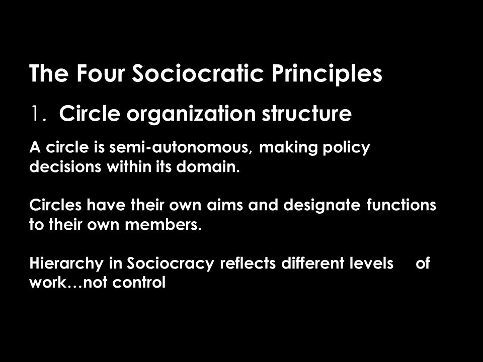 The Four Sociocratic Principles 1.
