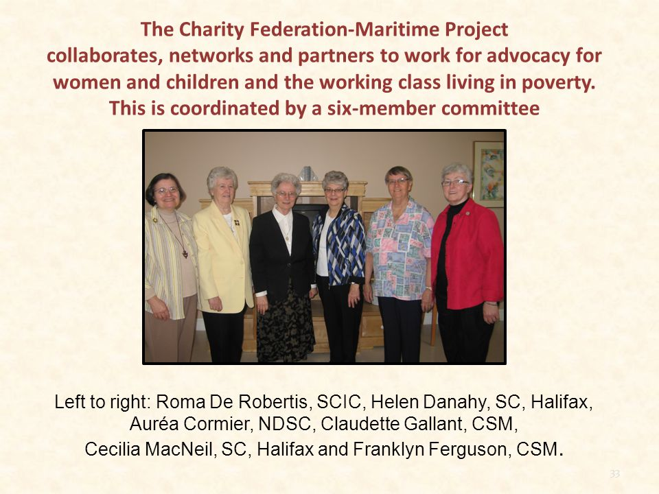 Committee Report for Charity Federation Maritime Project May 2012-June Just the cover page, not the report, is shown here