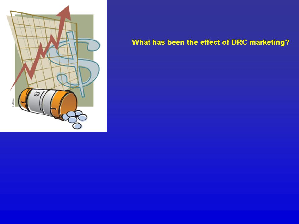 What has been the effect of DRC marketing