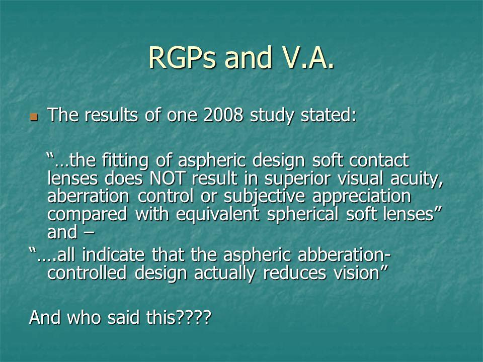 RGPs and V.A.