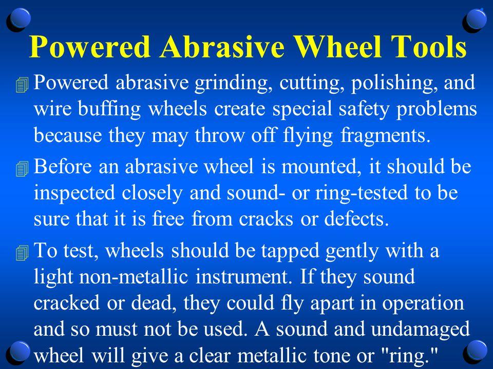 Failure to Ring Test 4 Failure to ring test could result in a disintegrating wheel.
