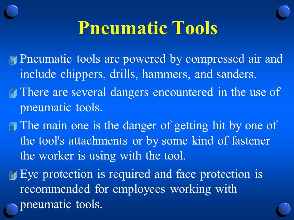 Pneumatic Powered Tools 4 Tool retainer.