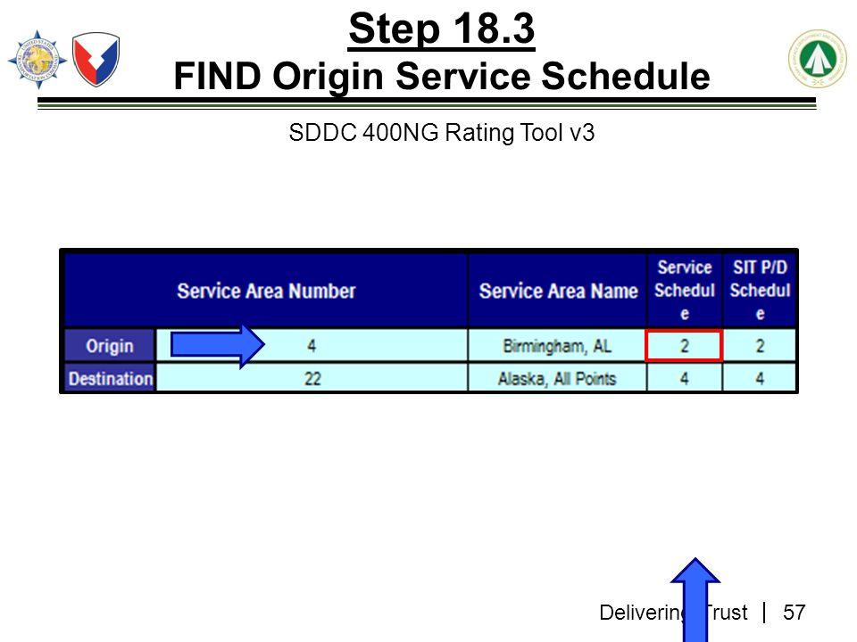 Delivering Trust Step 18.3 FIND Origin Service Schedule SDDC 400NG Rating Tool v3 57