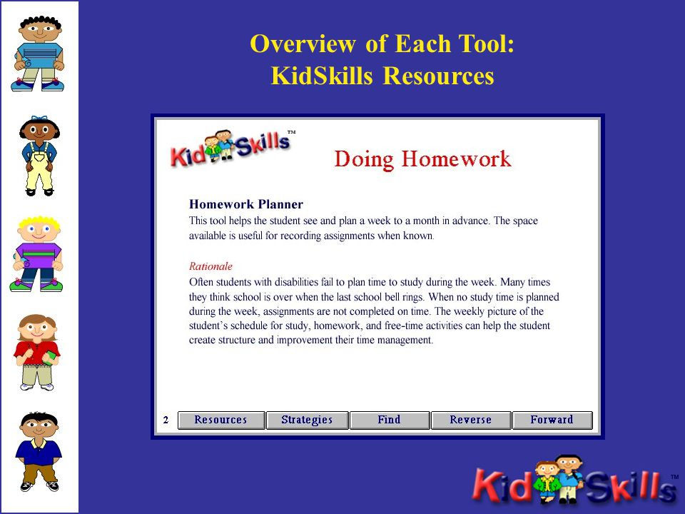 Overview of Each Tool: KidSkills Resources ™