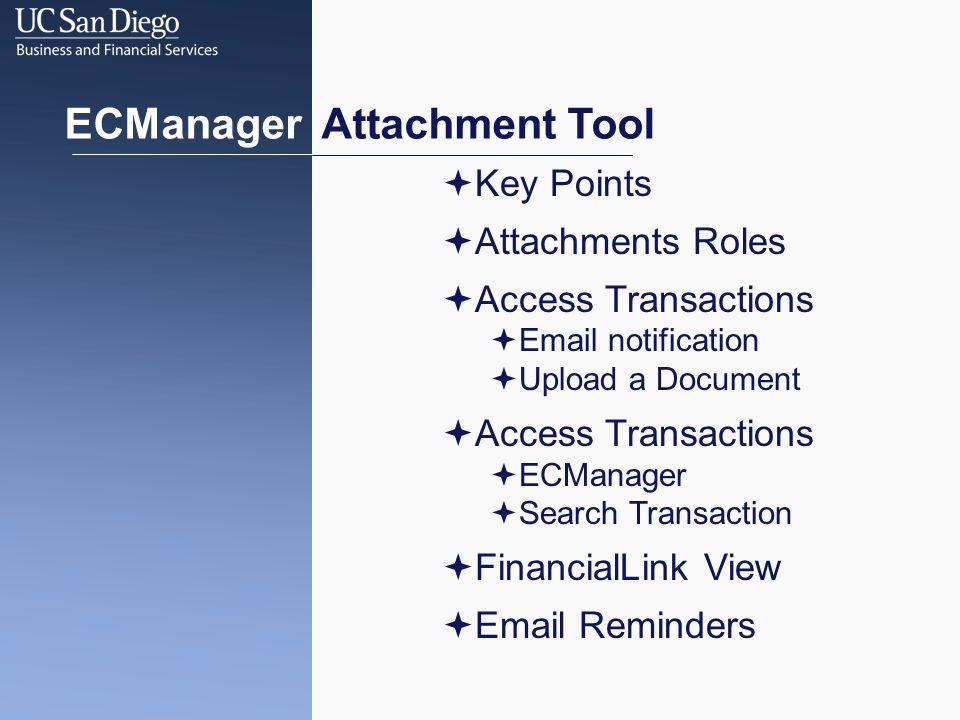 Advanced Searches ECMANAGER ATTACHMENT TOOL Ex.