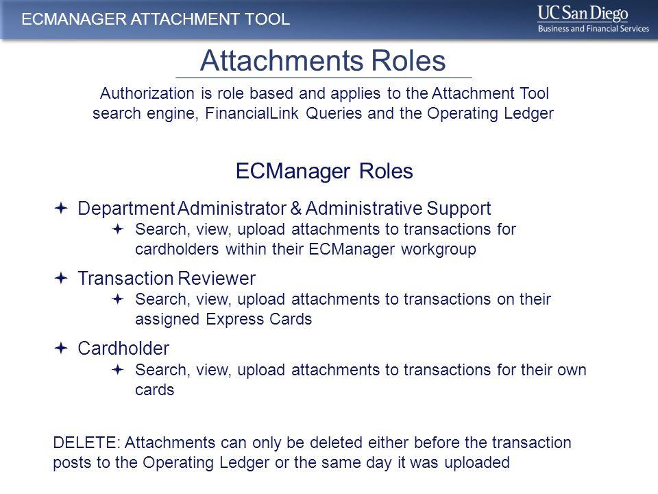 Attachments Roles cont.