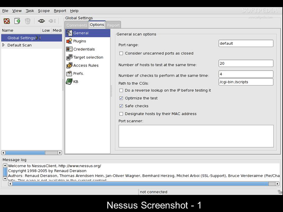 Nessus Screenshot - 1