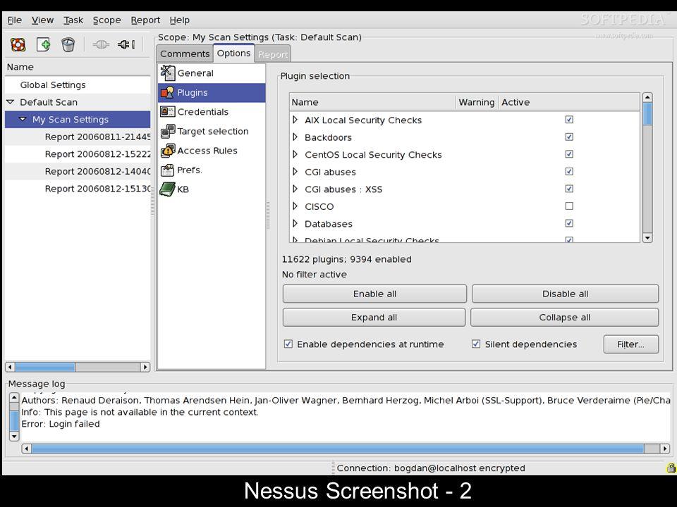 Nessus Screenshot - 2