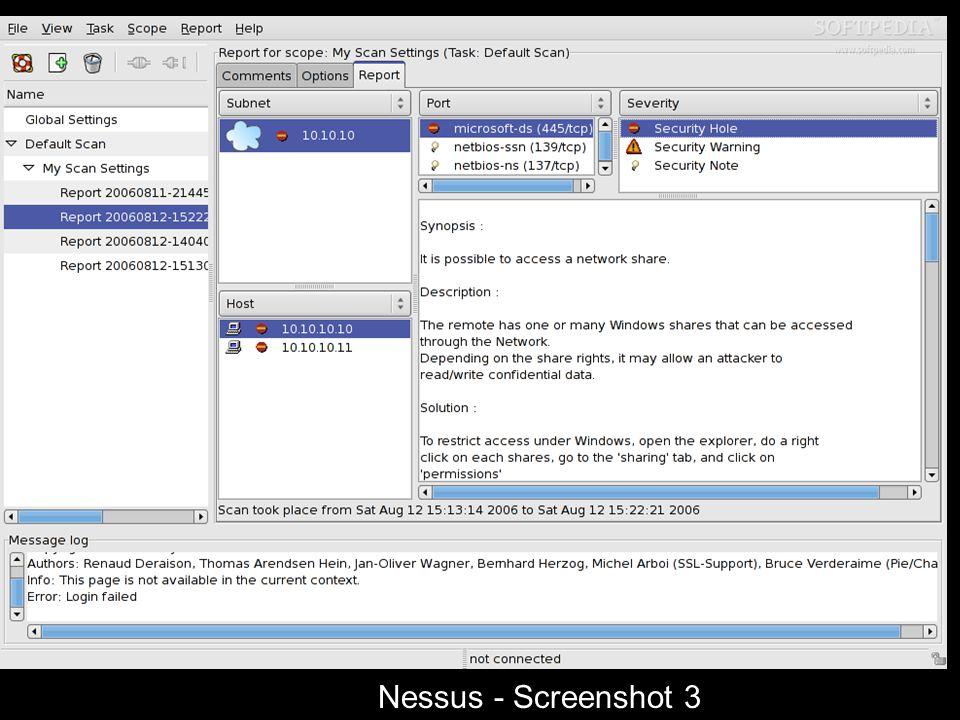 Nessus Screenshot - 3 Nessus - Screenshot 3