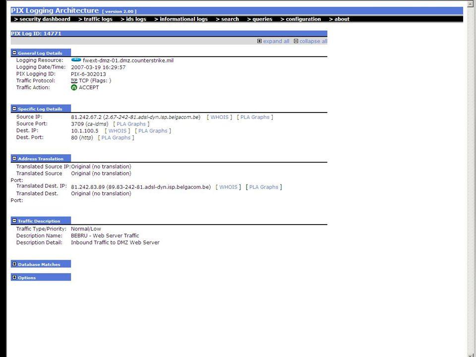 ArcSight screenshot 3