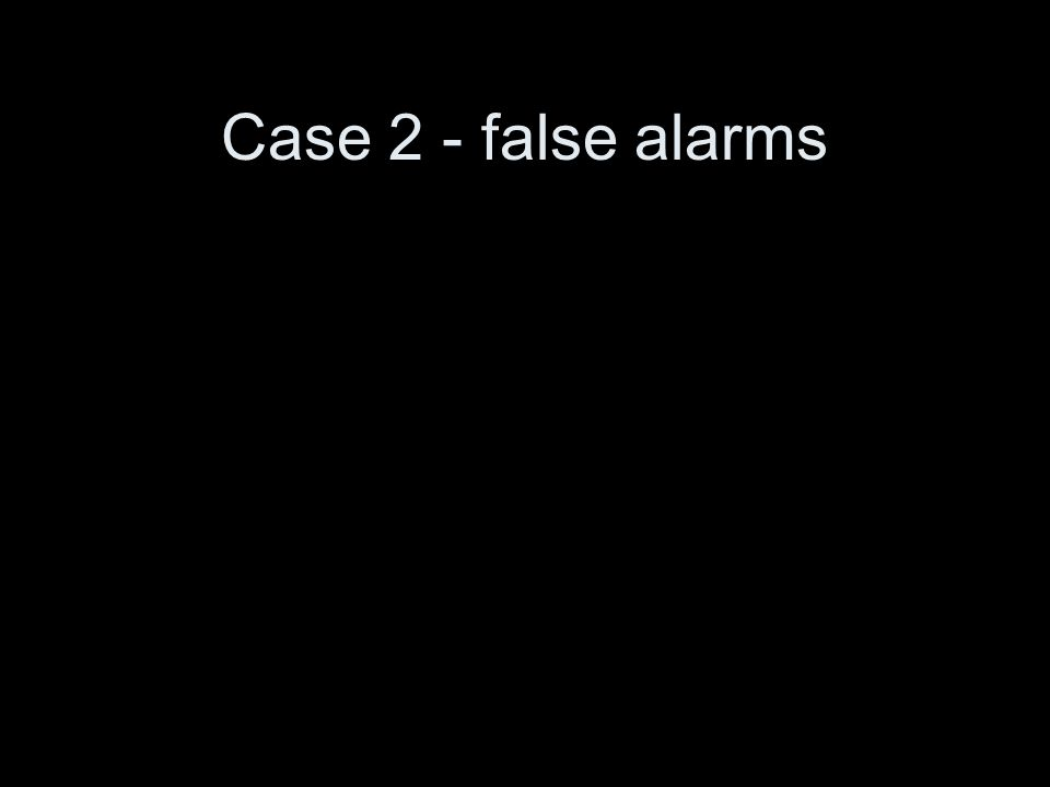 Case 2 - false alarms