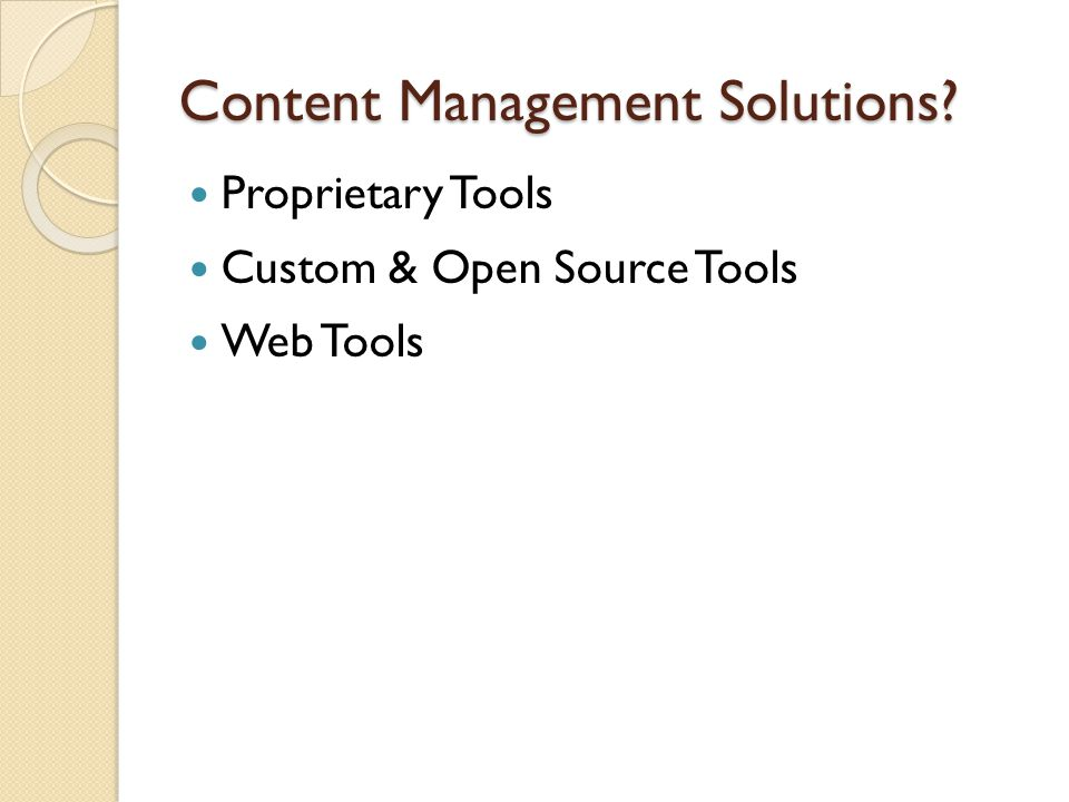 Proprietary Tools SharepointSharepoint, ThinkFreeThinkFree ◦ High Implementation Cost ◦ Ongoing Licensing ◦ Low Adoption Rates ◦ Labor Intensive ◦ Security Concerns ◦ Hardware Upgrades.