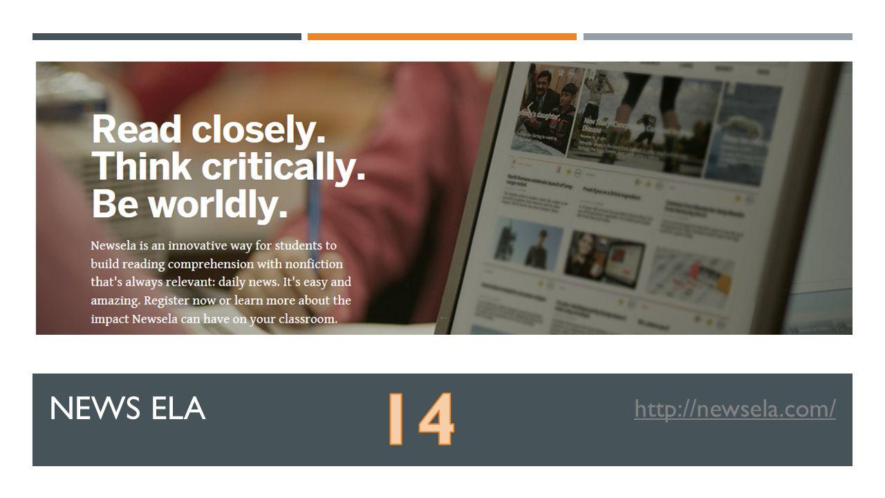 NEWS ELA http://newsela.com/