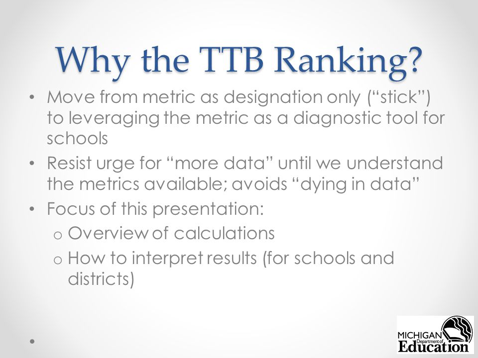 Why the TTB Ranking.