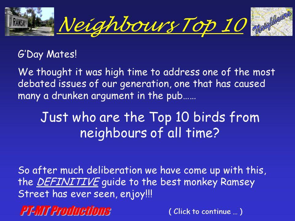 Neighbours Top 10 10.Lauren Carpenter 9.