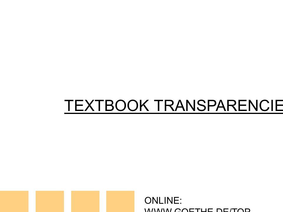 ONLINE: WWW.GOETHE.DE/TOP TEXTBOOK TRANSPARENCIES