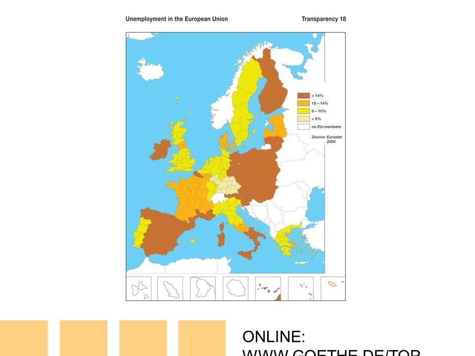 ONLINE: WWW.GOETHE.DE/TOP T18: Unemployment in the EU