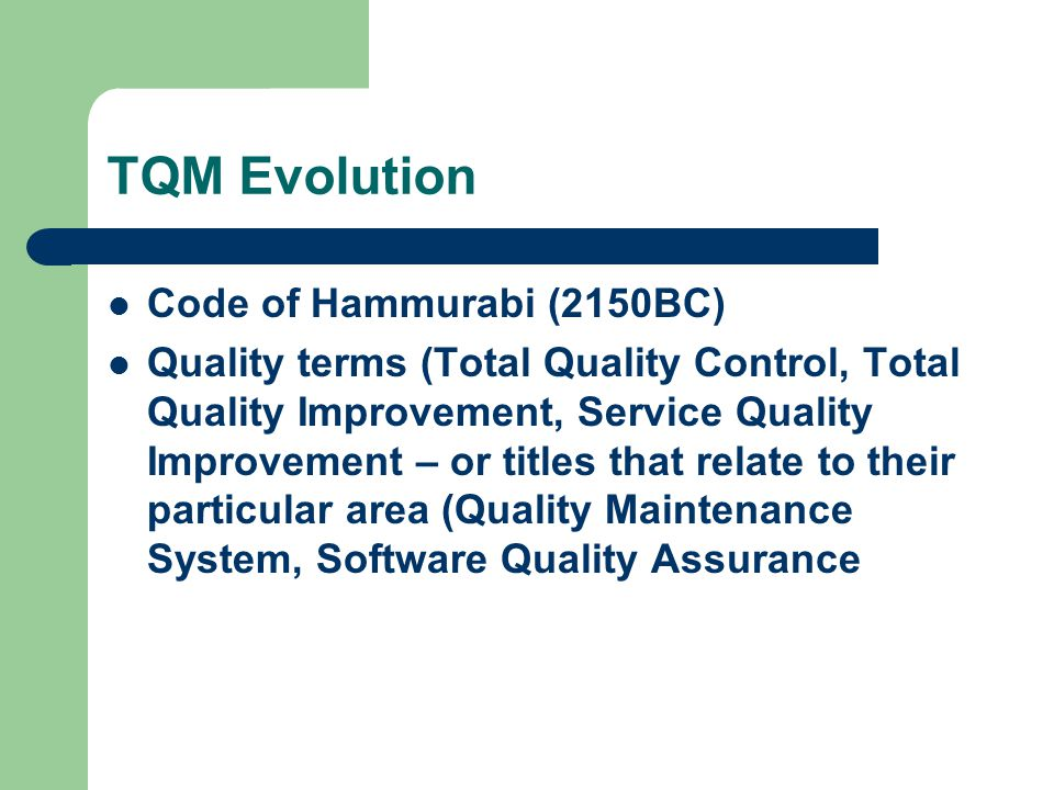 Quality Control Industrialization (Mass production) Inspection W.Shewhart (1924): Statistical Process Control (SPC)