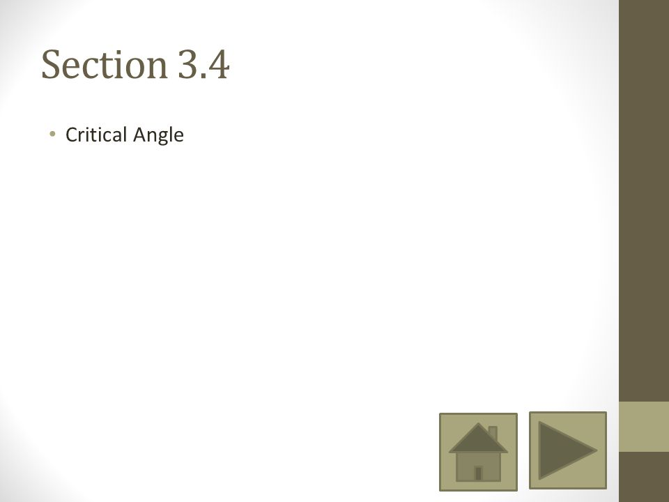 Section 3.4 Critical Angle