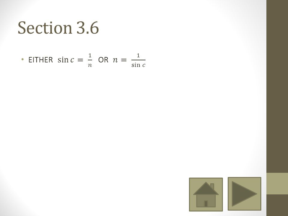 Section 3.6