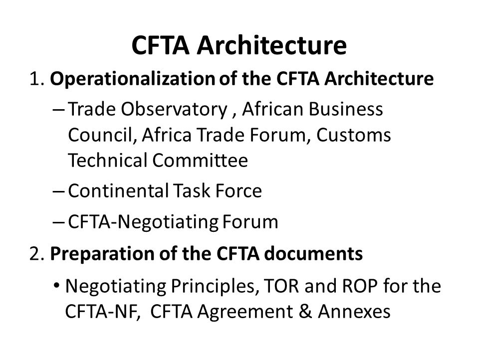 7 TH CAMEF Discussion Points Complementary policy issues: – Investment and Services – Implementation of the BIAT/CFTA – how far will we be.