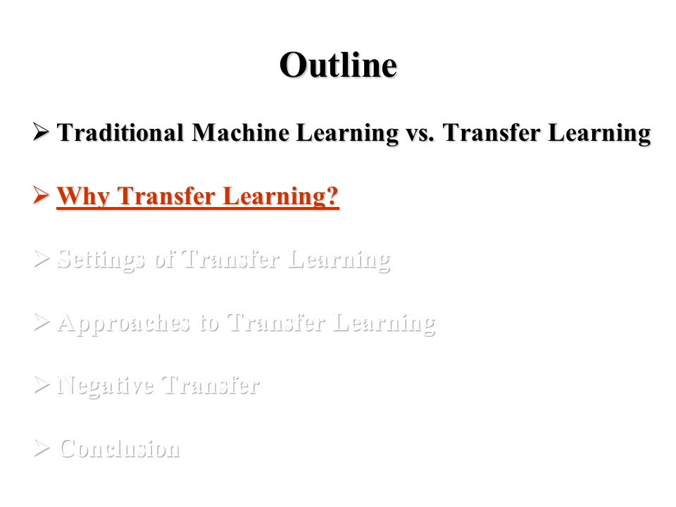 Why Transfer Learning. In some domains, labeled data are in short supply.