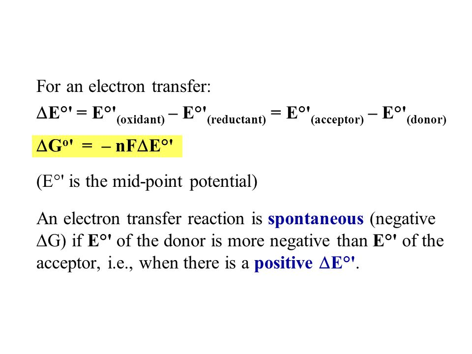 Consider transfer of 2 electrons from NADH to oxygen: a.