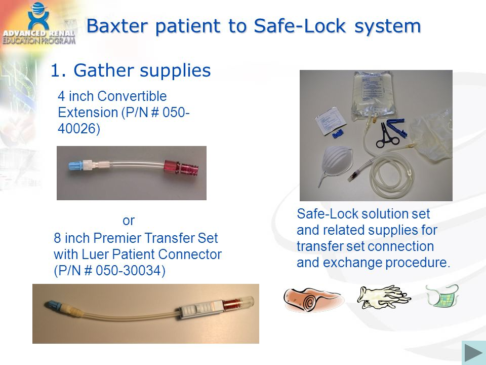 Baxter patient to Safe-Lock system 1.