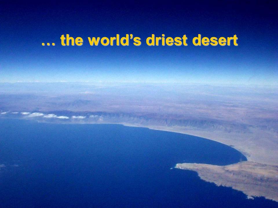 … the world's driest desert