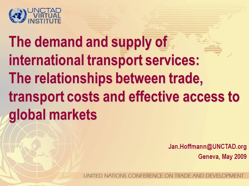 Transport costs Trade Volumes TransportServices