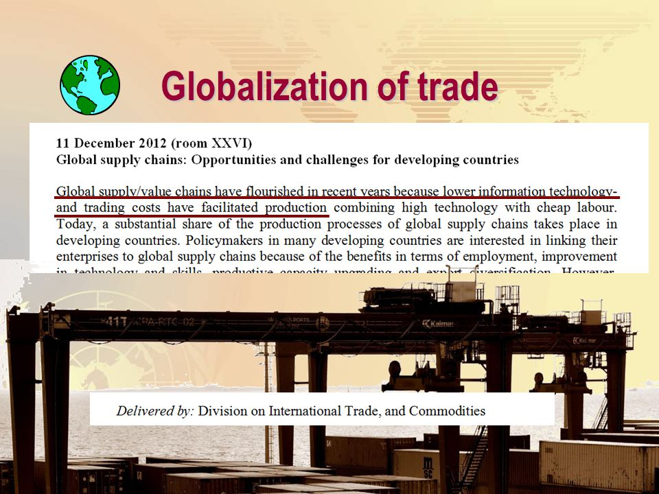 Globalization of trade