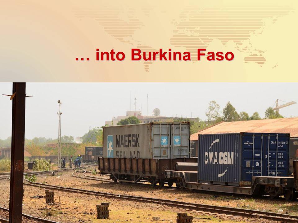… into Burkina Faso