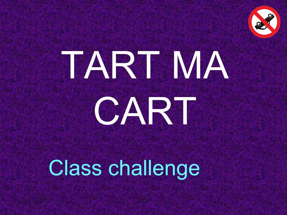 02/10/2011JAH TART MA CART Class challenge