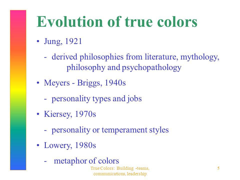 True Colors: Building -teams, communications, leadership 6 Maybe it's Maybelline innate behavior versus learned behavior