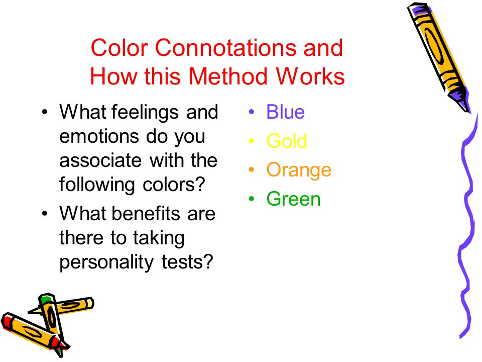 Your True Colors Test Look at each row of horizontal categories of words.