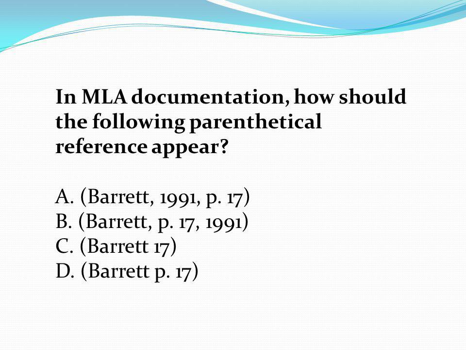 Apa parenthetical reference