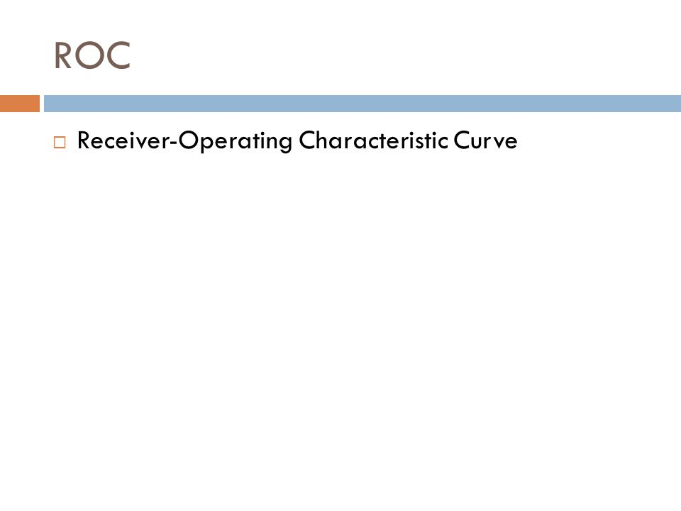 ROC  Receiver-Operating Characteristic Curve